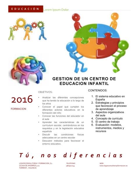 INF GESTION DE UN CENTRO DE EDUCACION INFANTIL